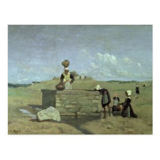 Breton Women at the Well near Batz, c.1842 Postcard