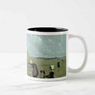 Breton Women at the Well near Batz, c.1842 Two-Tone Coffee Mug