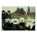 Breton Women Sitting at a Pardon Cards