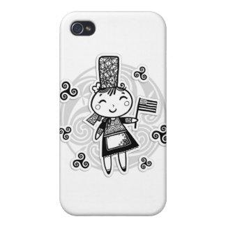 Bretonne fille iPhone 4/4S cases