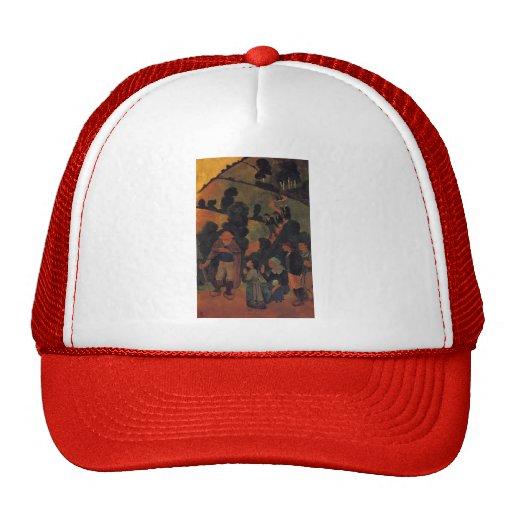 Bretons on a Path by Paul Serusier Hats
