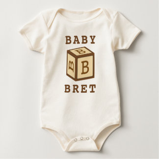 Bret''s Name on American Apparel Baby Bodysuit