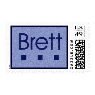 Brett blue stamp