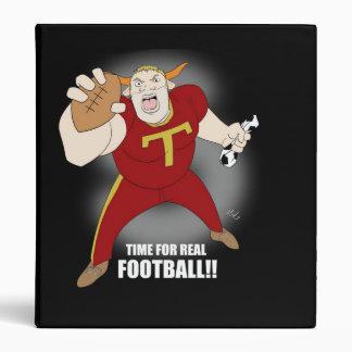 Brett Bull football folder Binder