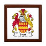 Brett Family Crest Keepsake Box