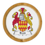 Brett Family Crest Round Cheeseboard