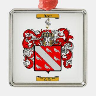 Brett (Irish) Metal Ornament