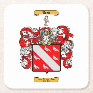 Brett (Irish) Square Paper Coaster