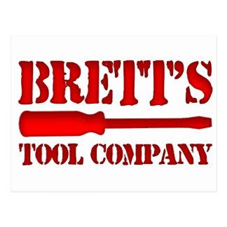 Brett's Tool Company Postcard