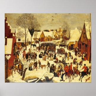 Breughal, winter scene, Lons le saunier musuem Posters