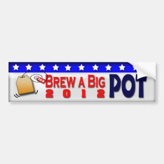Brew a big Pot Bumper Stickers