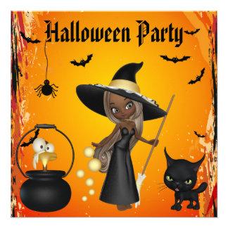 Brew afroamericano divertido Halloween de las bruj Anuncios