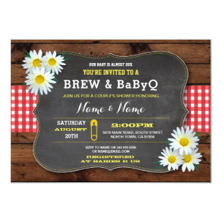 Brew and BABYQ Baby Shower Red Check Card