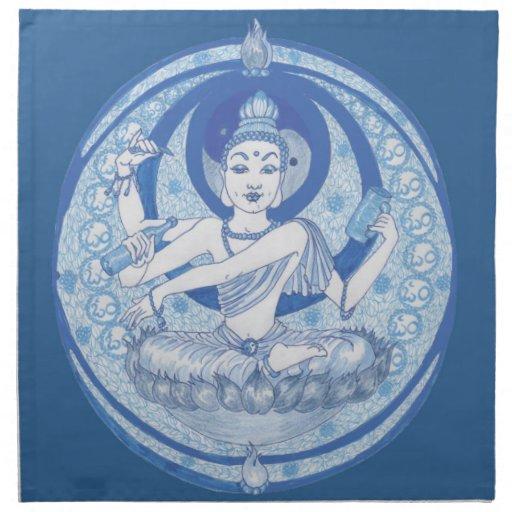 Brew azul del Bodhisattva Servilletas Imprimidas