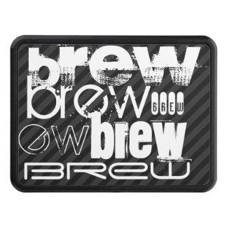 Brew; Black & Dark Gray Stripes Hitch Cover
