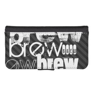 Brew; Black & Dark Gray Stripes Phone Wallets
