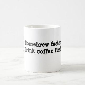 Brew casero más rápidamente. Café primer de la Taza Clásica