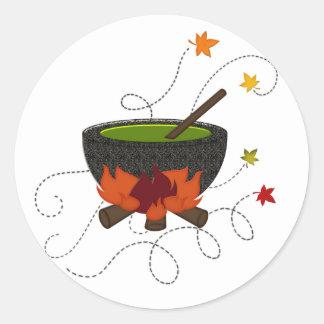 Brew de las brujas de Halloween Pegatina Redonda