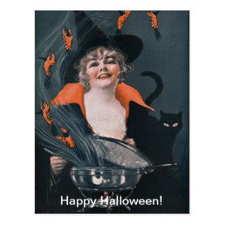 Brew de las brujas del vintage con las langostas tarjetas postales