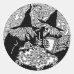 Brew de las brujas - pegatina de Halloween