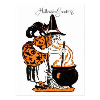 Brew de las brujas postal