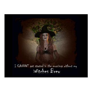 Brew de las brujas postales
