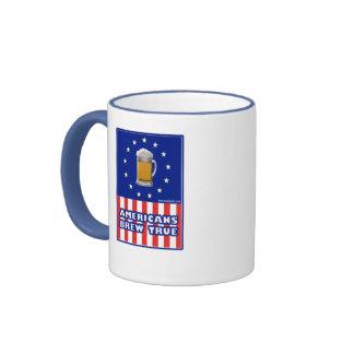 Brew de los americanos verdad tazas de café