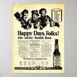 Brew escocés del vintage cerca de la impresión de