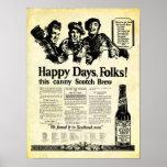 Brew escocés del vintage cerca de la impresión de posters