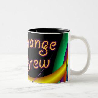 Brew extraño taza dos tonos
