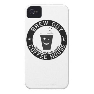 Brew Guy Coffee Black iPhone 4 Case