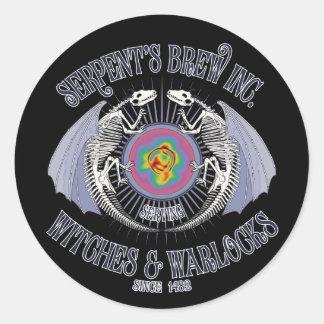 Brew Inc. de la serpiente Pegatinas Redondas