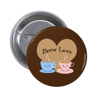 Brew Love! Coffee Mugs Button