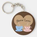 Brew Love! Coffee Mugs Keychain