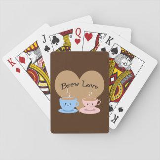 Brew Love! Coffee Mugs Playing Cards