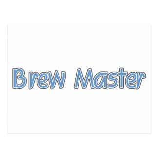 Brew Master (blue) Postcard