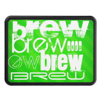 Brew; Neon Green Stripes Hitch Covers