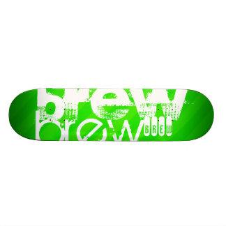 Brew; Neon Green Stripes Skate Decks