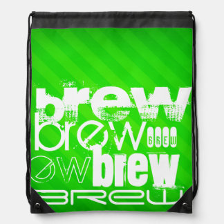 Brew; Rayas verdes de neón Mochilas