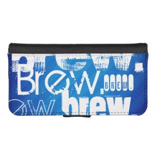 Brew, Royal Blue Stripes iPhone 5 Wallet Case