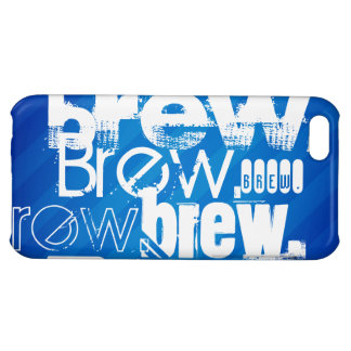 Brew, Royal Blue Stripes iPhone 5C Covers