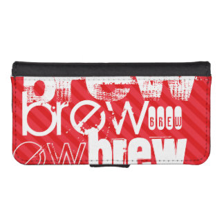 Brew; Scarlet Red Stripes iPhone 5 Wallet Cases