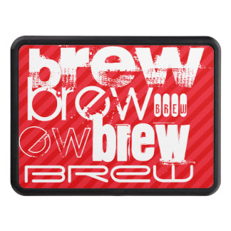 Brew; Scarlet Red Stripes Tow Hitch Cover