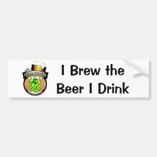 Brew the beer car bumper sticker