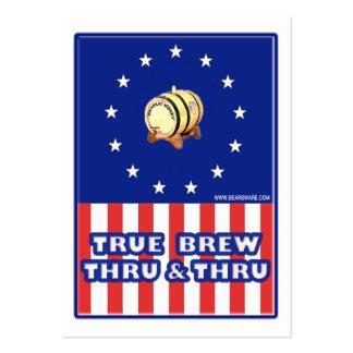 Brew verdadero a través y a través del vino plantilla de tarjeta personal