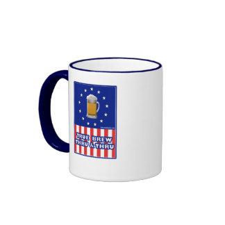 Brew verdadero a través y a través tazas de café