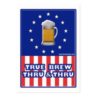 Brew verdadero a través y a través tarjetas de visita