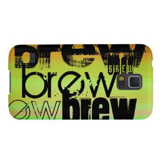 Brew; Verde vibrante, naranja, y amarillo Funda Galaxy S5