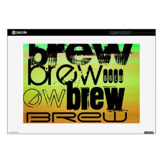 Brew; Vibrant Green, Orange, & Yellow Laptop Decals