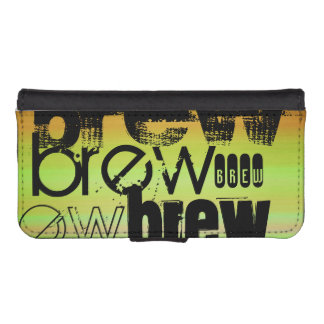 Brew; Vibrant Green, Orange, & Yellow Phone Wallet Cases